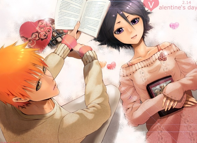 anime bleach st. valentines day rukia and ichigo wallpaper 5 stars phistars