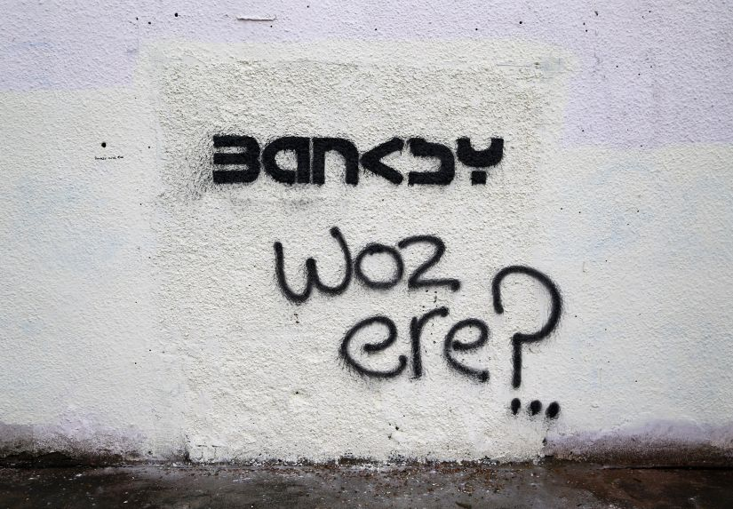 Watch a Video of British Artist Banksy in Gaza